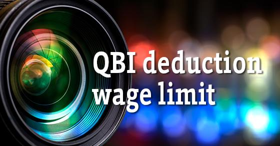QBI dedunction wage limit